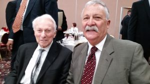 Senior Judge Procter Hug Jr. and  State Bar President Larry Digesti.
