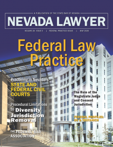 Nevada Lawyer magazine May 2020
