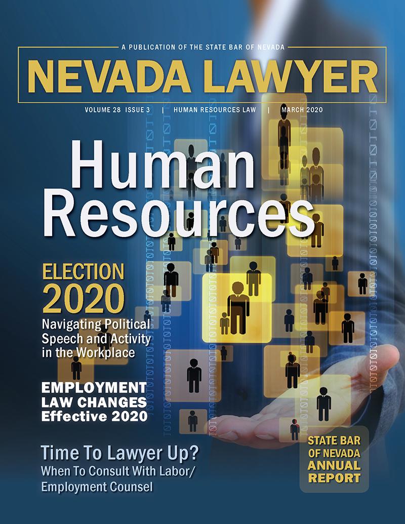 March 2020 Nevada Lawyer magazine